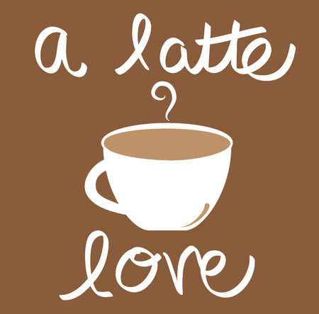 A Latte Love Coffee 向量圖像