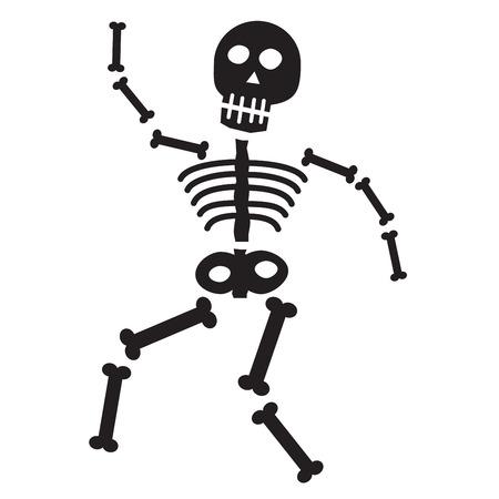 huesos humanos: Esqueleto de Halloween Vectores