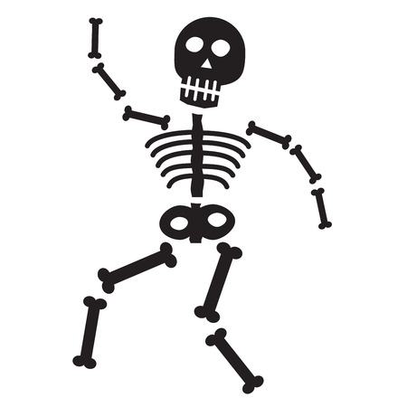 Halloween Skeleton 版權商用圖片 - 30553060