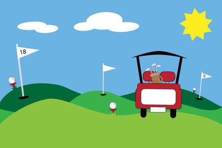 Golf Scene Vector