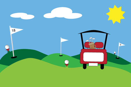 Golf Scene 版權商用圖片 - 31529682