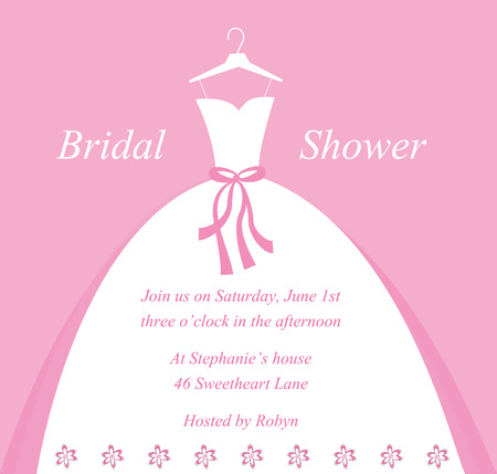 Wedding Bridal Shower Invitation Vector