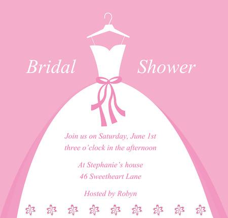clip art people: Wedding Bridal Shower Invitation
