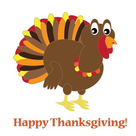 gobble: Happy Thanksgiving Turkey Illustration