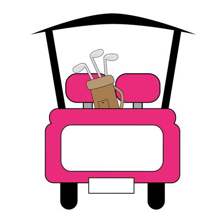 ピンクのゴルフカート 写真素材 - 31642623