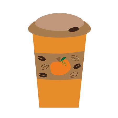Pumpkin Spice lattekoffie Stock Illustratie