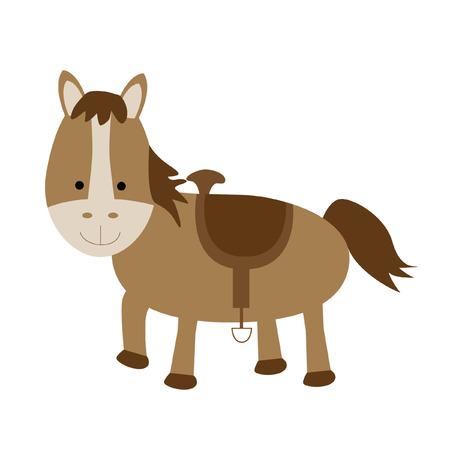 孤立した馬