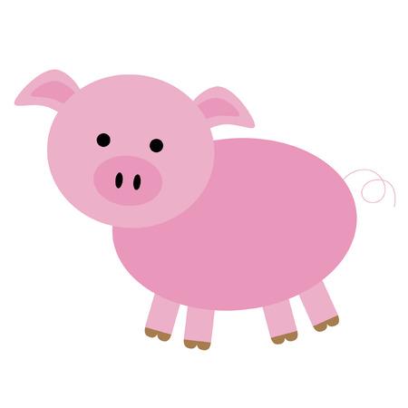 고립 된: 고립 된 돼지 일러스트
