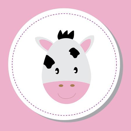 moo: Baby Cow Illustration