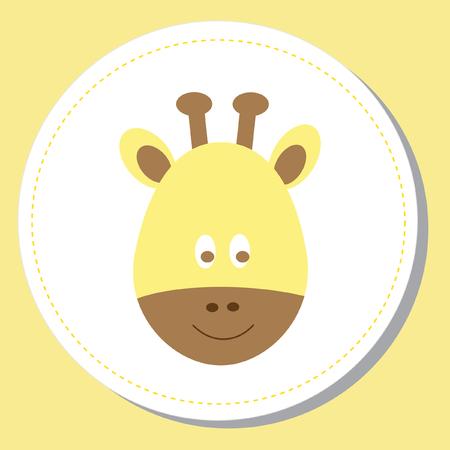 kindy: Baby Giraffe Illustration
