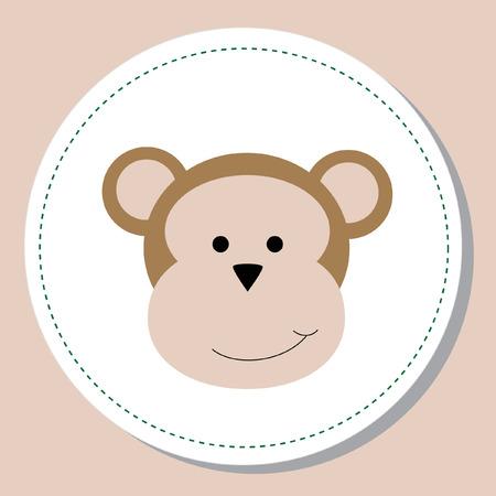 baby clip art: Baby Monkey