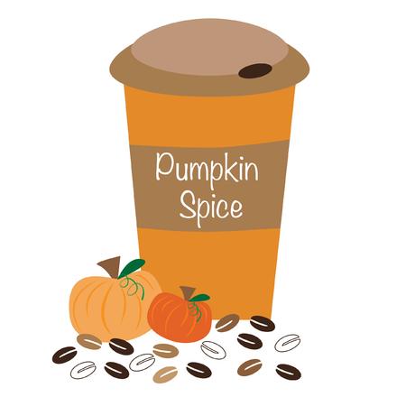 Pumpkin Spice Coffee Illustration