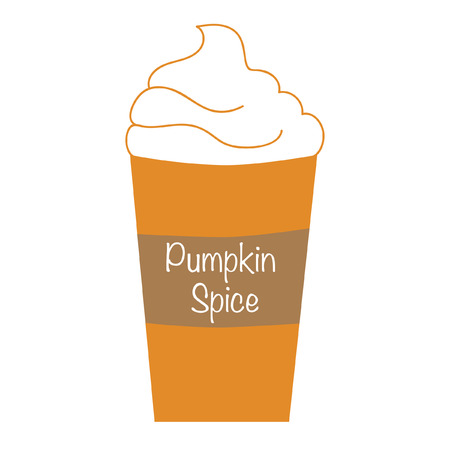 Pumpkin Spice Whipped Latte 版權商用圖片 - 46105412