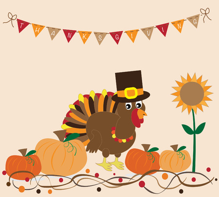 gobble: Thanksgiving Turkey and Pumpkins