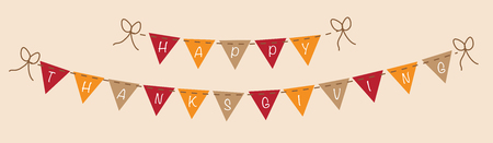 Happy Thanksgiving Banner Фото со стока - 46105414
