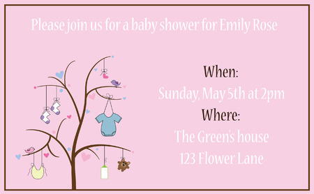 cute baby girls: Baby Shower Invitation Illustration