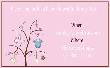 invitacion baby shower: Invitaci�n de la ducha del beb� Vectores