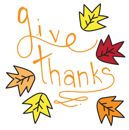 give thanks to: Give Thanks Illustration