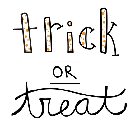 treat: Trick or Treat Lettering