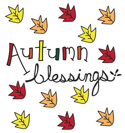 blessings: Autumn Blessings Illustration