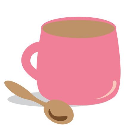 nonalcoholic: Coffee Mug with Spoon