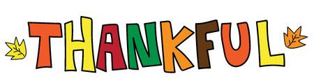 Dankbaar kleurrijke woord Stock Illustratie
