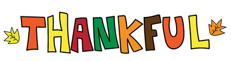 Thankful colorful word