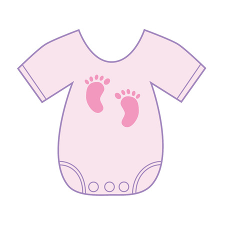 Baby Girl Clothes Illustration