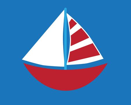 Sailboat Vettoriali