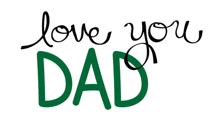 dada: Love You Dad in Green
