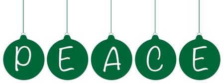 green peace: Green Peace Ornaments Illustration