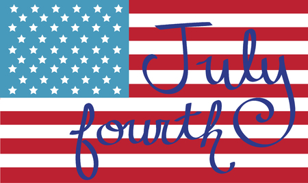 fourth july: July Fourth Flag
