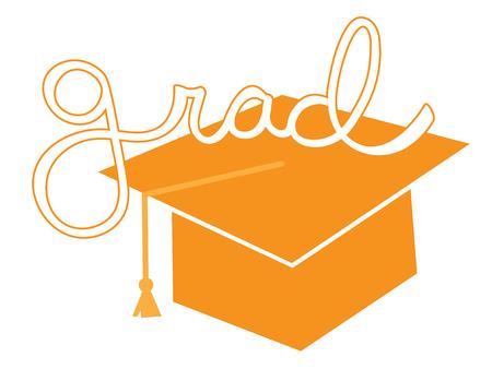 grad: Orange Grad Cap