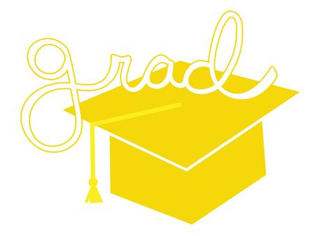 grad: Yellow Grad Cap Illustration