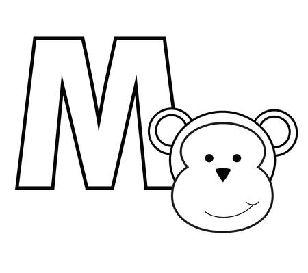 kindy: M for Monkey Illustration