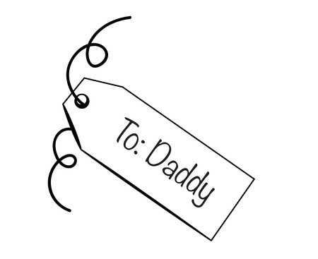 dada: To Daddy Tag Illustration