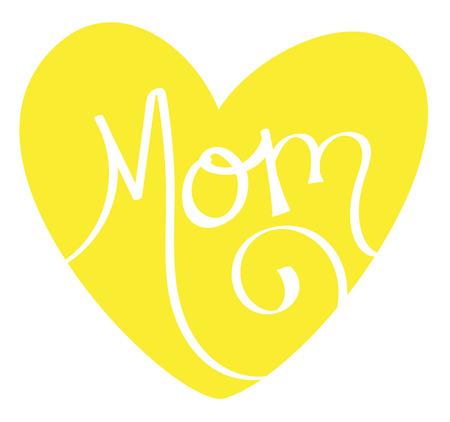 Yellow Mom Heart