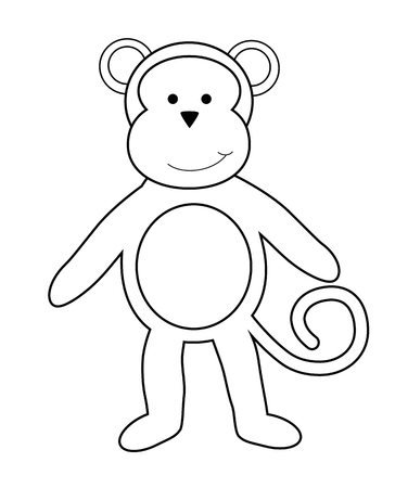 kindy: Monkey Coloring Page