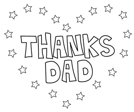 Dank Dad Sterne Färbung Seite Lizenzfrei Nutzbare Vektorgrafiken ...