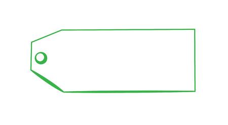 printables: Blank Green Tag Illustration