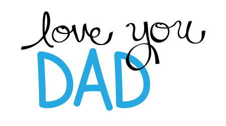 dada: Love You Dad in Blue