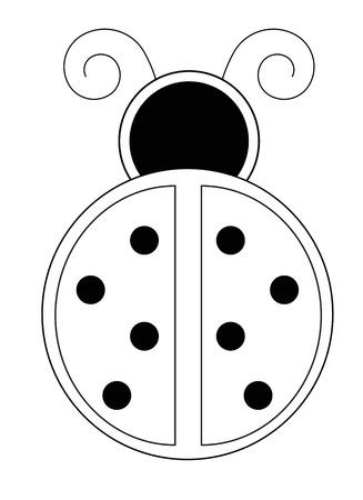 kindy: Ladybug Coloring Page