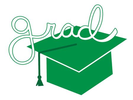 grad: Green Grad Cap