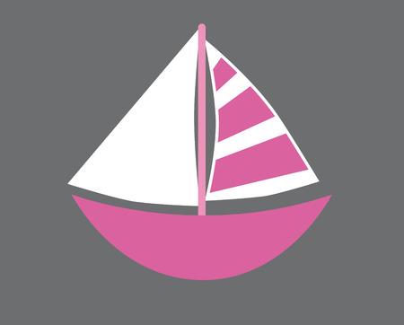 ahoy: Pink Sailboat