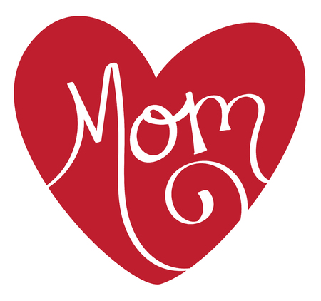 Mom Red Heart