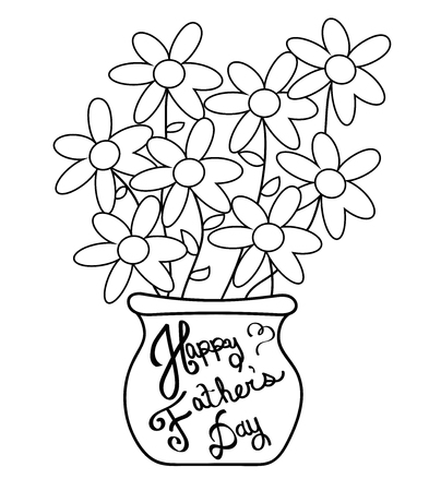 dada: Happy Fathers Day Coloring Page