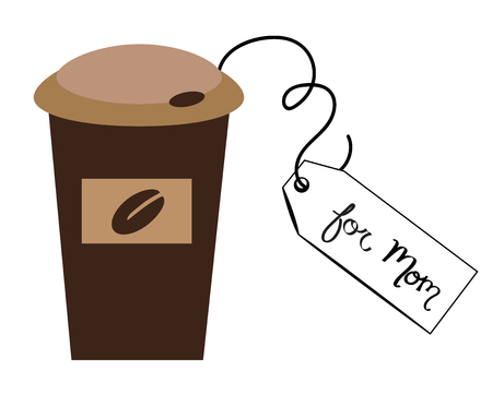 coffee to go: Coffee To Go For Mom Illustration