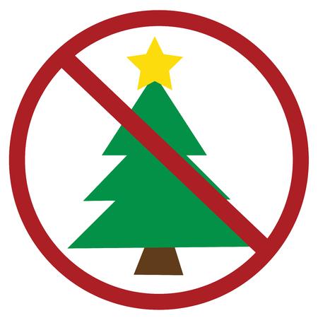no sign: No Christmas