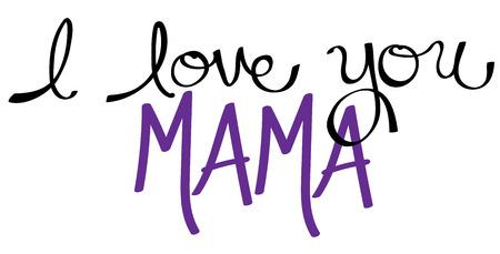 mama: I Love You Mama Purple