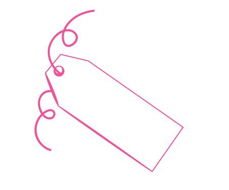 printables: Blank Pink Tag
